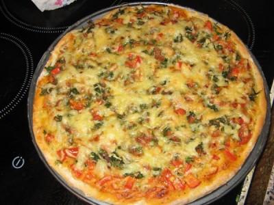 Тесто для пиццы на сухих дрожжах