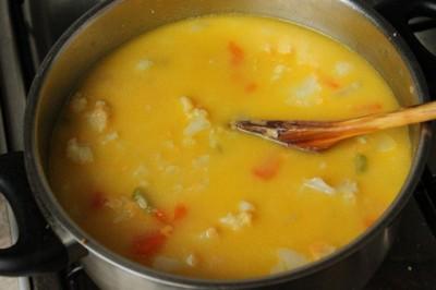 рецепт сырного супа из цветной капусты