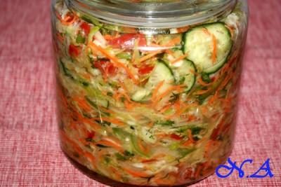 заготовки в зиму салаты