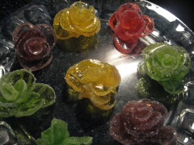 Украшение розы мармеладовые торты