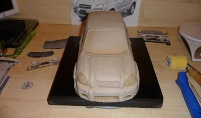 Машина из пенопласта пошаговое фото
