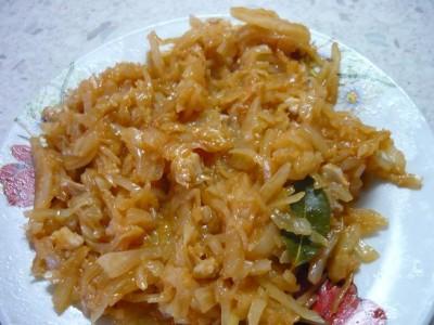 Рецепт тушеной капусты со свинины без томатной пасты