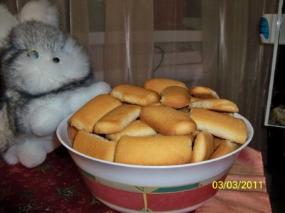Печенье на смальце и кефире