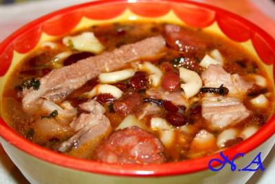 Фасолевый суп из свинины рецепт