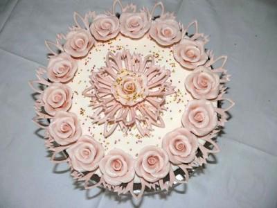 как сделать розы на торт