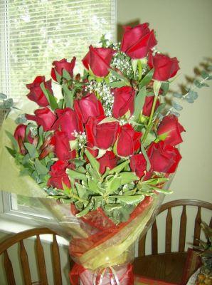 Как подписать цветов от мужа