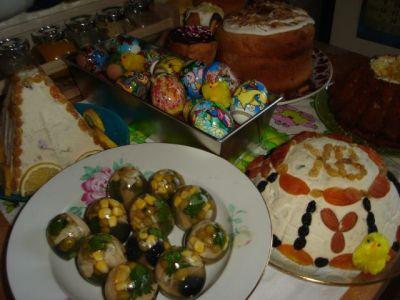 Наш пасхальный стол заливный яйца