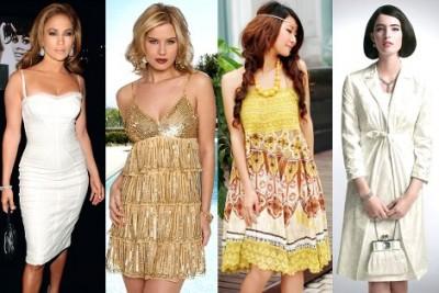 Фасоны платьев - Фото 22: Платье-комбинация - из тонкой ткани, в бельевом...