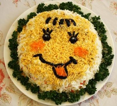 колобок в салате фото