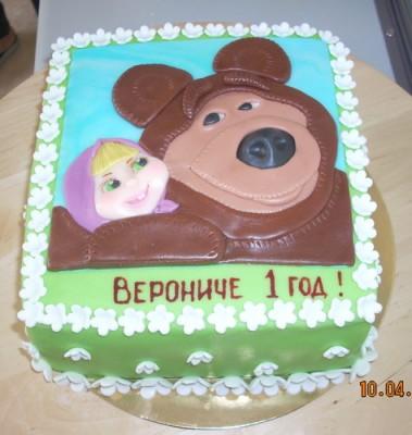 Сегодня снова Маша и Медведь, но на этот раз в аппликации.