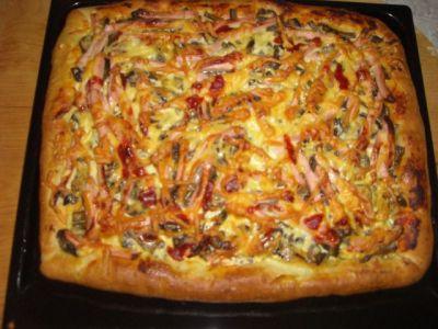 рецепт пицца на готовом дрожжевом тесте рецепт с фото