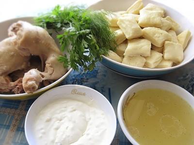 Блюда из свежих грибов с курицей