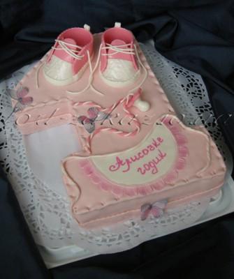 Тортик единичка на годик для девочки