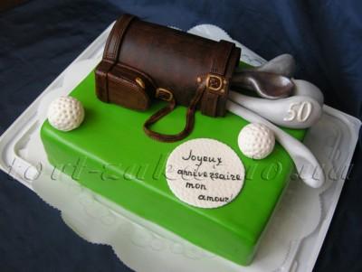 """Торт  """"Гольф """" (сумка с клюшками для гольфа)"""