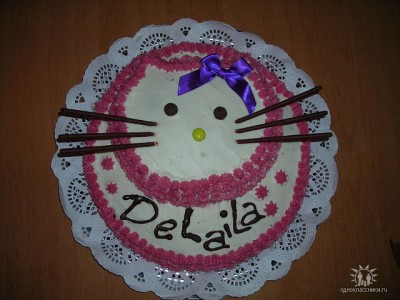 Тортик hello kitty для юлии