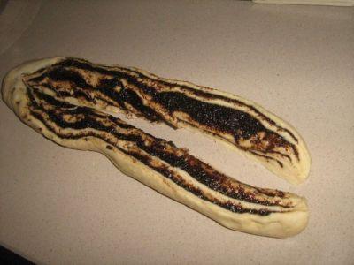 Плетеный калач с изюмом и маком в духовке - рецепт пошаговый с фото