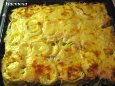 рецепт картошка по французски с курицей в духовке