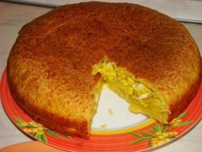 Быстрый и вкусный пирог на кефире