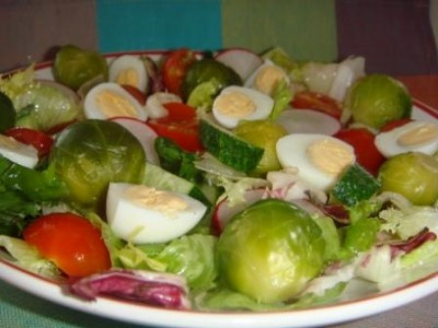 салаты с брюссельской капустой