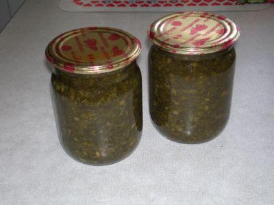 борща зеленого Заготовка рецепт зиму для на
