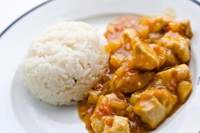курица в соусе карри с рисом рецепт
