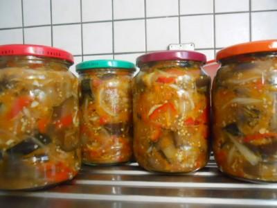 рецепт кабачки с баклажанами на зиму