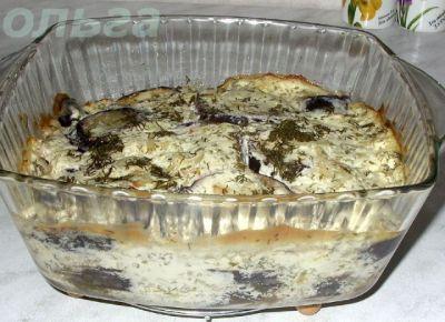 Баклажаны со сметаной и чесноком на сковороде рецепт