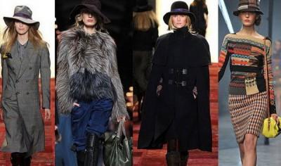 Описание: Модные головные уборы осень-зима 2012.