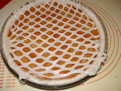Как сделать на пироге сетку