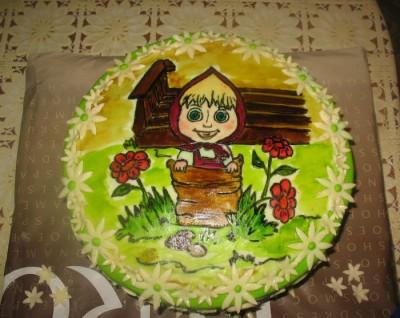 """Торт  """"Маша """" из м/ф  """"Маша и медведь """" в этот раз простенький торт решила..."""