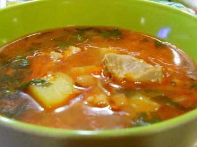 рецепт супа фасолевого со свининой