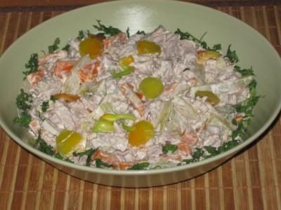 Салат обжорка классический рецепт с со свининой