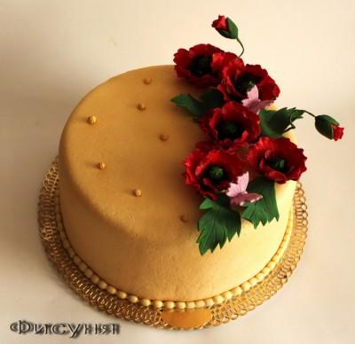 Тортик для 9-ти летней девочки на итальянскую вечеринку.