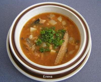 рецепт рыбного супа из консервов в томате