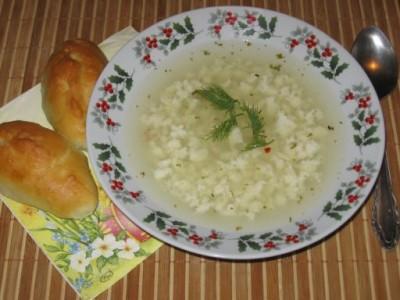 Суп на курином бульоне с кабачком