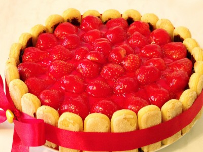 Торт из творога с вишней фото 3