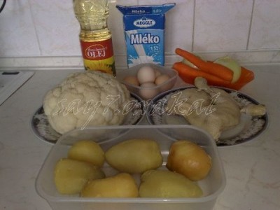 Запеканка с цветной капустой и картошкой