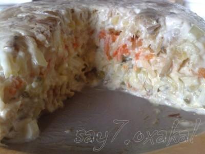 Салаты из скумбрии холодного копчения рецепты