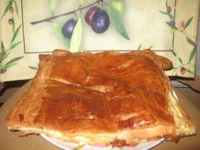 слоеный пирог с сыром улитка