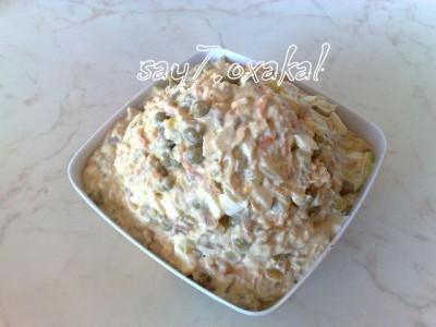 салаты из скумбрии горячего копчения рецепты с фото