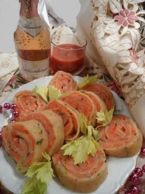 рецепт салатов семгой или форелью