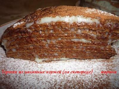 Быстрые коржи для торта на сковороде рецепт