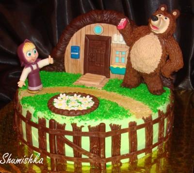 Как сделать торт маша