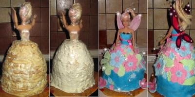 Как сделать  для торт кукла