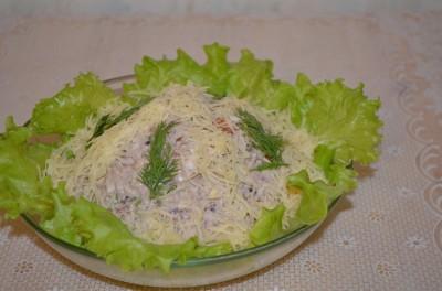 салат незнакомка рецепт с фото