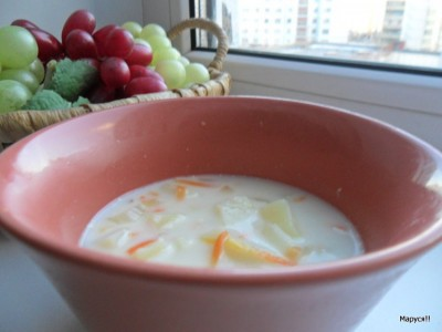 Сырный суп для детей от года