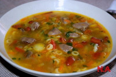 суп из куриных сердец рецепт