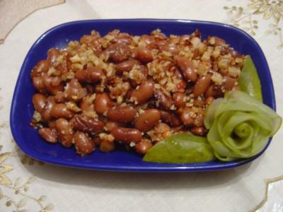 Салат с семгой и зеленью