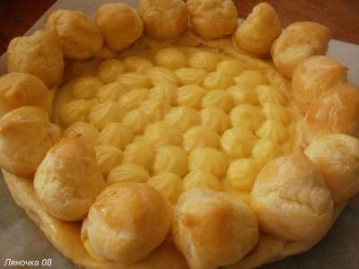 Как сделать заварное пирожное с кремом