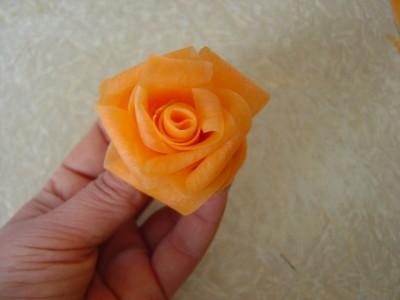 Как сделать розы с моркови